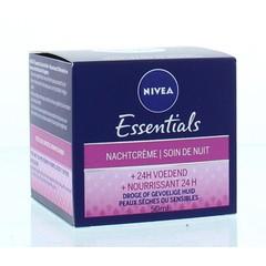 Nivea Essentials nachtcreme voedend (50 ml)