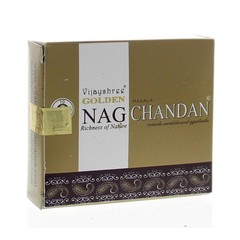 Vijayshree Wierook golden nag chandan cones (10 stuks)