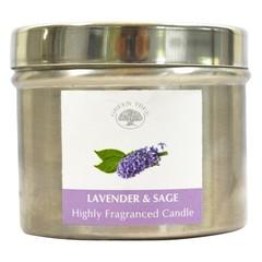 Green Tree Geurkaars lavender sage (150 gram)