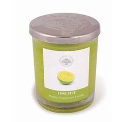 Green Tree Geurkaars lime zest glas (200 gram)