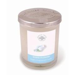 Green Tree Geurkaars white flowers glas (200 gram)