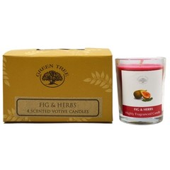 Green Tree Geurkaars figs & herbs votives (55 gram)