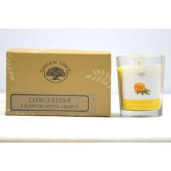 Green Tree Geurkaars citrus cedar votives (55 gram)