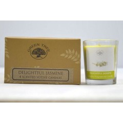 Green Tree Geurkaars delightful jasmin votives (55 gram)