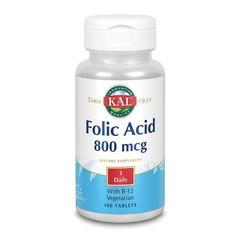 KAL Foliumzuur 800 mcg & B12 (100 tabletten)