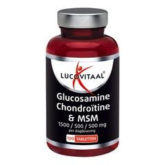 Lucovitaal Glucosamine/chondroitine/msm (100 tabletten)