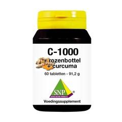 SNP Vitamine C + rozenbottel + curcuma 1000mg (60 tabletten)