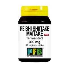 SNP Reishi shiitake maitake fermented 300mg puur (60 vcaps)