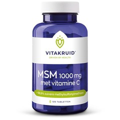 Vitakruid MSM 1000mg + vitamine C (120 tabletten)