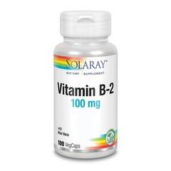 Solaray Vitamine B2 riboflavine 100 mg (100 vcaps)