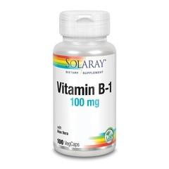 Solaray Vitamine B1 thiamine 100 mg (100 vcaps)