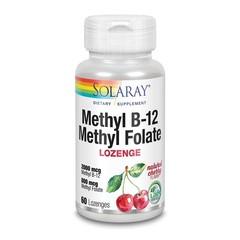 Solaray Vitamine B12 & Folaat (60 zuigtabletten)