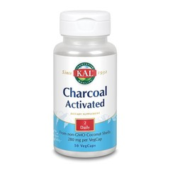 KAL Charcoal activated - actieve kool 280 mg (50 vcaps)