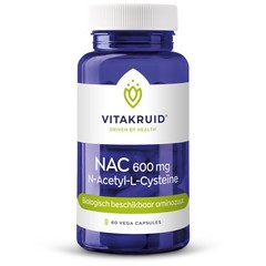 Vitakruid NAC 600 mg N-Acetyl-L-Cysteine (60 vcaps)