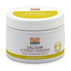 Mattisson Calcium citraat poeder - 21% elementair calcium (125 gram)