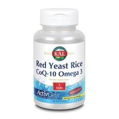 KAL Rode gist rijst Co Q10 omega 3 ActivGels (60 softgels)