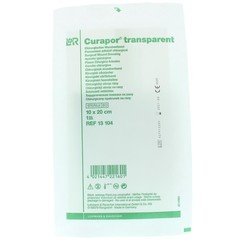 Curapor Transparant 10 x 20 cm steriel (1 stuks)