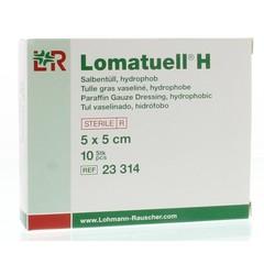 Lomatuell Lomatuell H gaasverband 5 cm x 5 cm (10 stuks)