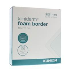 Kliniderm Foam silicone border 10 x 10 cm (10 stuks)