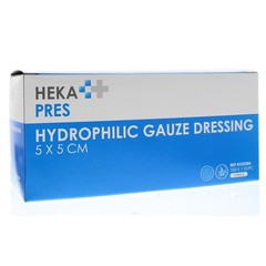 Hekapres Hydrofiel gaaskompres 5 x 5 steriel (100 stuks)
