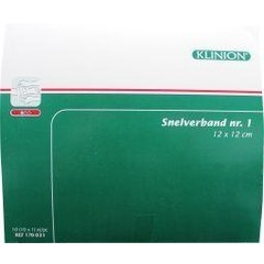 Klinion Snelverband NR1 12 x 12 CM (10 stuks)