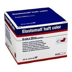 Elastomull Elastomull haft 20 m x 6 cm rood (1 stuks)