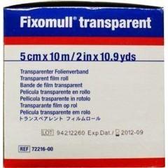 Fixomull Transparent 10 m x 5 cm 7221600 (1 stuks)