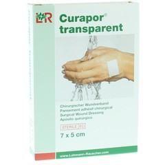 Curapor Transparant 7 x 5 cm steriel (5 stuks)