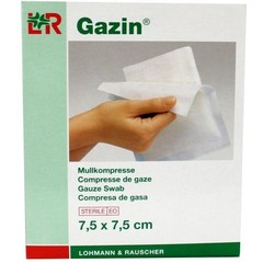 Gazin Gazin gaaskompres 7.5 x 7.5 steriel 5 x 2 (10 stuks)