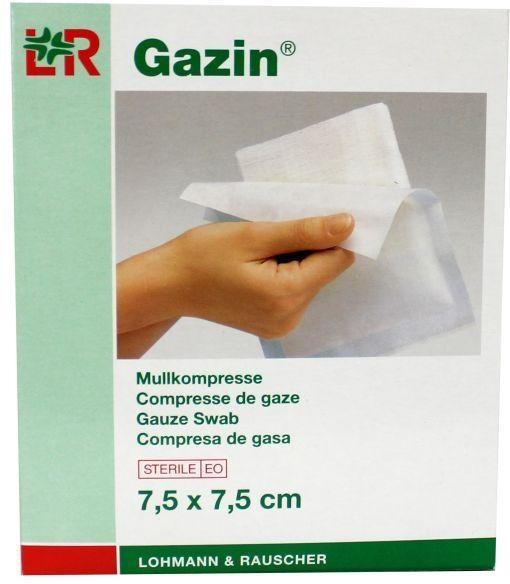 Gazin Gazin Gazin gaaskompres 7.5 x 7.5 steriel 5 x 2 (10 stuks)