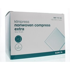 Klinion Non-woven compres 10 x 10 cm extra (100 stuks)