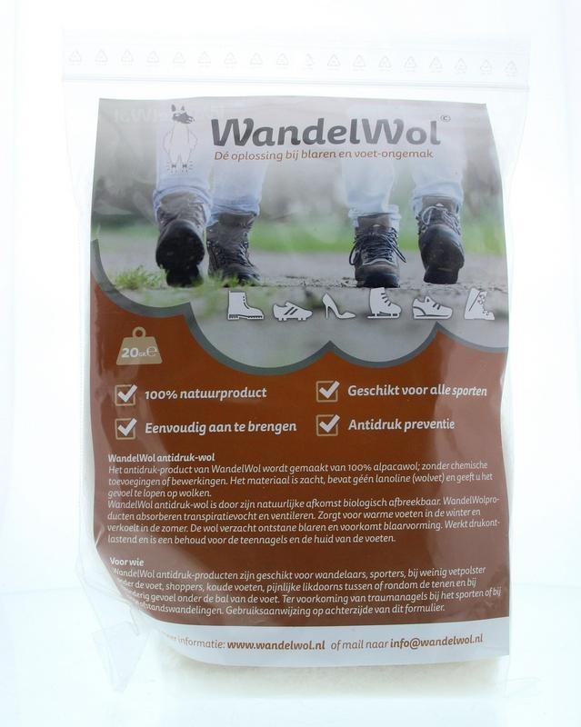 Wandelwol Wandelwol Antidruk-wol lanolinevrij (20 gram)