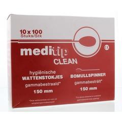 Mediclean Wattendrager hout 10 x 100 stuks (1000 stuks)