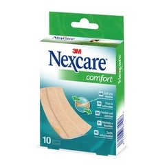 Nexcare Comfort strips huidkleur 6 x 10 cm (10 stuks)