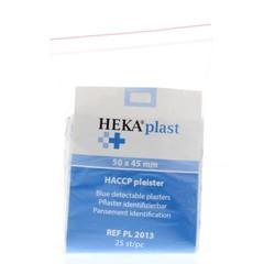 Heka HACCP pleisters blauw 50 x 45 mm (25 stuks)