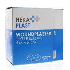 Hekaplast Dispenser 5 m x 6 cm textiel (1 stuks)