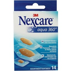 Nexcare Aqua 360 assorti pleisters (14 stuks)