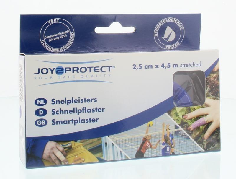 Joy2Protect Joy2Protect Snelpleisters blauw 2.5 cm x 4.5 m (2 rollen)