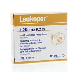 Leukopor Hechtpleister 9.2 m x 1.25 cm +D 76447 (1 stuks)