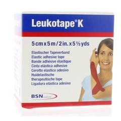 Leukotape Leukotape K 5 m x 5.0 cm rood (1 stuks)