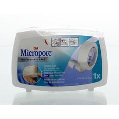 3M Micropore hechtpleister 1.25 x 9.14 (1 stuks)