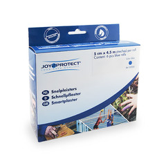 Joy2Protect Snelpleisters blauw 5 cm x 4.5 cm (1 rol)