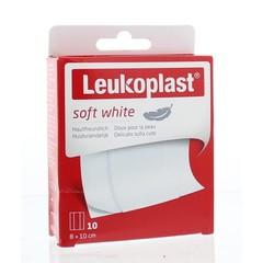 Leukoplast Soft white 8 x 10 cm (10 stuks)