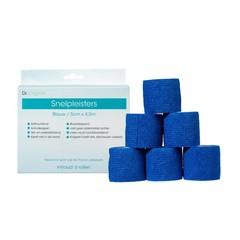 Dr Original Snelpleisters blauw 5 cm x 4,5 m (6 stuks)
