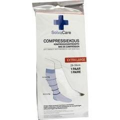 Solvacare Compressiekous wit XL 29 - 33 cm (1 paar)