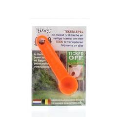Teekweg Ticked off tekenlepel oranje (1 stuks)