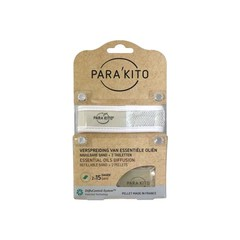Parakito Armband wit met 2 tabletten (1 stuks)