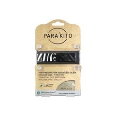 Parakito Armband design zwart met 2 tabletten (1 stuks)