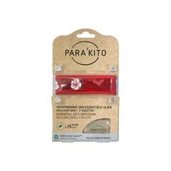 Parakito Armband design rood met 2 tabletten (1 stuks)