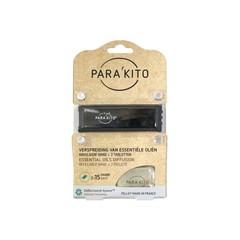 Parakito Armband zwart met 2 tabletten (1 stuks)